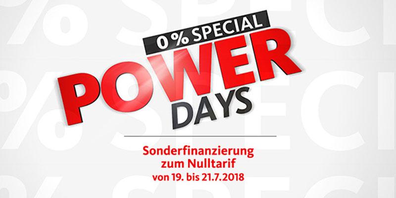Angebot 0% Finanzierung Von 19. - 21.7.2018